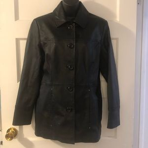 East 5th Leather Trench Coat